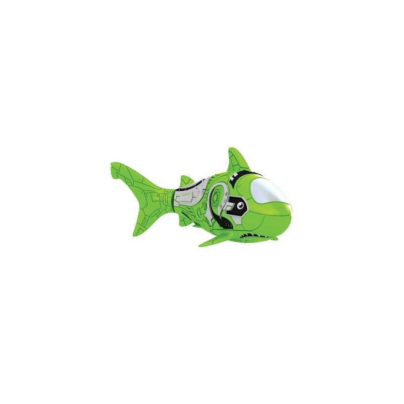 Роборыбка АкулаРоборыбка Акулазелёногоцвета марки ZURU.<br>Инновационная высокотехнологичная игрушка. Активируется в воде. Имитирует движения и повадки рыбы. Электромагнитный мотор позволяет рыбке двигаться в 5 направлениях. При погружении в аквариум или другую емкость с водой РобоРыбка начинает плавать, опускаясь ко дну и поднимаясь к поверхности воды. Игрушка работает от двух алкалиновых батареек А76 или RL44, которые входят в комплект (две установлены в игрушку и 2 запасные).<br>Размер: 7,5x2x3,5см.<br>Рекомендованодля детей от 3 лет.<br><br>Цвет: Зеленый<br>Возраст от: 3 года<br>Пол: Не указан<br>Артикул: 698012<br>Бренд: Китай<br>Страна производитель: Китай<br>Размер: от 3 лет