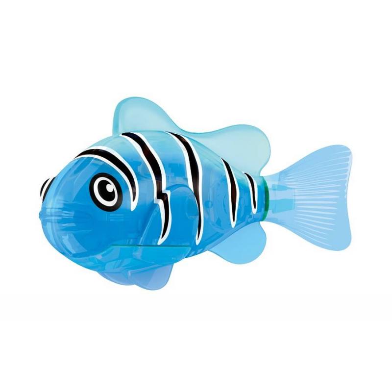 Светодиодная РобоРыбка Синий маякСветодиодная РобоРыбка Синий маяк марки ZURUдля мальчиков.<br>Инновационная высокотехнологичная игрушка. Активируется в воде. Имитирует движения и повадки рыбы. Электромагнитный мотор позволяет рыбке двигаться в 5 направлениях. При погружении в аквариум или другую емкость с водой, РобоРыбка начинает плавать, опускаясь ко дну и поднимаясь к поверхности воды. Светодиодная игрушка при соприкосновении с водой также начинает светиться.<br>В целях экономии энергии рыбка автоматически отключается через 4 минуты. Для активации игрушкивытащите ее из воды на несколько секунд и запустите снова в воду. Внутри рыбки в крышке под батарейками находится специальный грузик, регулирующий глубину ее погружения. Если РобоРыбка плавает на дне, не всплывая - уберите грузик; если на поверхности – добавьте грузик.<br>Игрушка работает от двух алкалиновых батареек А76 или RL44, которые входят в комплект (две установлены в игрушку и 2 запасные).<br>Размер: 7,5x2x3,5см.<br>Рекомендованодля детей от 3 лет.<br><br>Возраст от: 3 года<br>Пол: Для мальчика<br>Артикул: 698015<br>Бренд: Китай<br>Страна производитель: Китай<br>Размер: от 3 лет