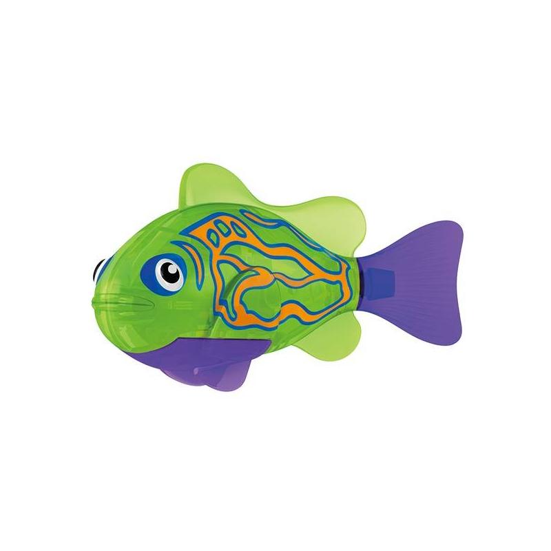 Тропическая РобоРыбка МандаринкаТропическая РобоРыбка Мандаринка марки ZURU.<br>Инновационная высокотехнологичная игрушка. Активируется в воде. Имитирует движения и повадки рыбы. Электромагнитный мотор позволяет рыбке двигаться в 5 направлениях. При погружении в аквариум или другую емкость с водой РобоРыбка начинает плавать, опускаясь ко дну и поднимаясь к поверхности воды. Игрушка работает от двух алкалиновых батареек А76 или RL44, которые входят в комплект (две установлены в игрушку и 2 запасные).<br>Размер: 7,5x2x3,5см.<br>Игрушка предназначена для детей от 3 лет.<br><br>Возраст от: 3 года<br>Пол: Не указан<br>Артикул: 698023<br>Страна производитель: Китай<br>Бренд: Китай<br>Размер: от 3 лет