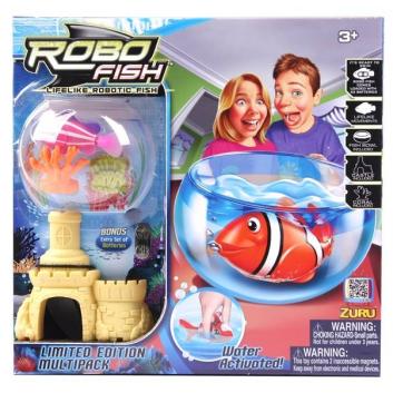 РобоРыбка с кораллами замком и аквариумом