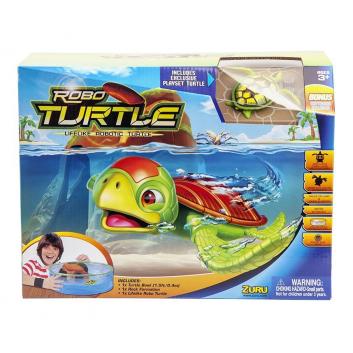 Игрушки, Большой набор РобоЧерепашка и аквариум с островом ZURU 698036, фото