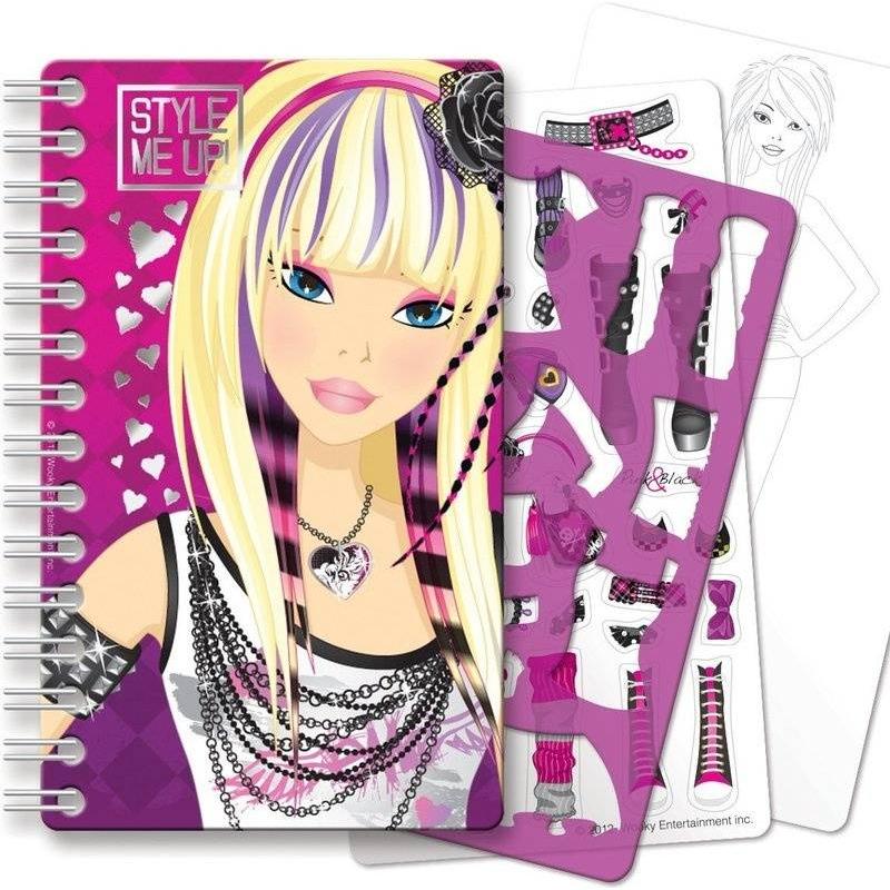 Блокнот с трафаретамиБлокнот с трафаретами марки Style me up! для девочек.<br>Красочный блокнот содержит разнообразные страницы, которые покажут юной моднице мир стиля и красоты. Блокнот представляет собой рабочую тетрадь с разными элементами, которые помогут создать свою собственную модную коллекцию.<br>Комплектация:<br>- 20 страниц с эскизами; страницы скреплены металлической пружиной и очень удобно переворачиваются;- 1 лист с трафаретами;- 1 лист со стикерами;- иллюстрированные инструкции.<br>Размер: 13х2,1х31,1см.<br>Рекомендовано для детей от 8 лет.<br><br>Возраст от: 8 лет<br>Пол: Для девочки<br>Артикул: 658823<br>Страна производитель: Китай<br>Бренд: Канада<br>Размер: от 8 лет