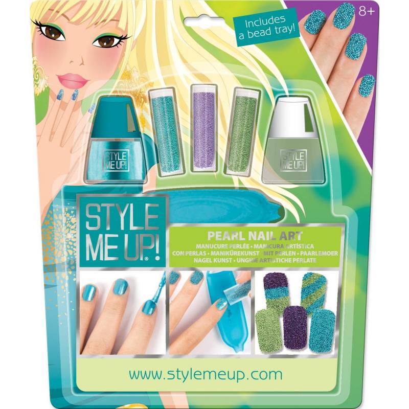 Жемчужный маникюрЖемчужный маникюрмарки Style me up!<br>Яркий набор для маникюра даст возможность юным модницам сделать стильный жемчужныйдизайн на своих ногтях.<br>Комплектация:<br>- 2 флакончика лака для ногтей: голубогоцвета и прозрачный, который можно использовать еще и в качестве закрепителя, нанося поверх бусин;- 3 колбочки с микробусинками фиолетового, серебристого и синего цветов;- 1 лоток для микробусинок;- подробные иллюстрированные инструкции.<br>Рекомендовано для детей от 8 лет.<br><br>Возраст от: 8 лет<br>Пол: Для девочки<br>Артикул: 658811<br>Страна производитель: Китай<br>Бренд: Канада<br>Размер: от 8 лет
