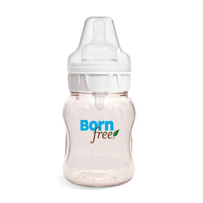 Пластиковая бутылочка 150 млПластиковая бутылочка 150 мл маркиBornFree.<br>Характеристики:<br>- Экологически чистая безопасная и прочная прозрачная бутылочка из премиум материала с золотым сиянием;- Естественная форма соски из медицинского силикона. Проверена времена и одобрена педиатрами;- Уникальная антиколиковая система ActiveFlow на 80% снижает риск возникновения колик и инфекции среднего уха;- Запатентованная система позволяет ребенку контролировать поток молока, так же как при кормлении грудью;- Плотно закрывающиеся бутылочки, не проливаются и не текут;- Бутылочка, которая растет вместе с ребенком - соски, крышки, ручки подходят ко всем бутылочкам и поильникам;- Безопасная продукция, которая не содержит бисфенол-А, фталаты и ПВХ!<br>Объём: 150 мл.<br><br>Возраст от: 0 месяцев<br>Пол: Не указан<br>Артикул: 695307<br>Бренд: Израиль<br>Размер: от 0 месяцев