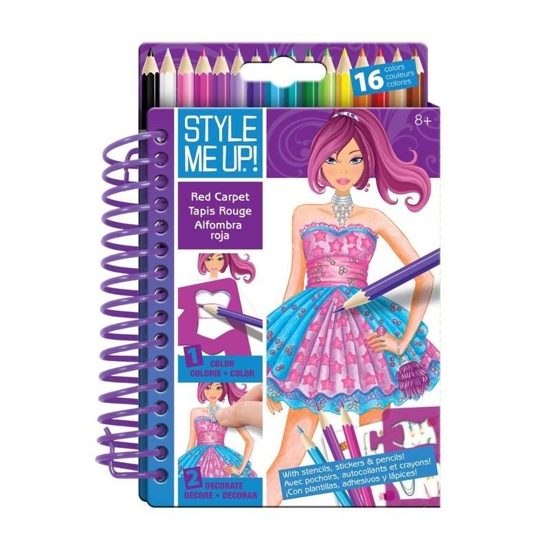 Style me up! Блокнот с карандашами Подиум наборы для творчества wooky style me up блокнот с карандашами подиум