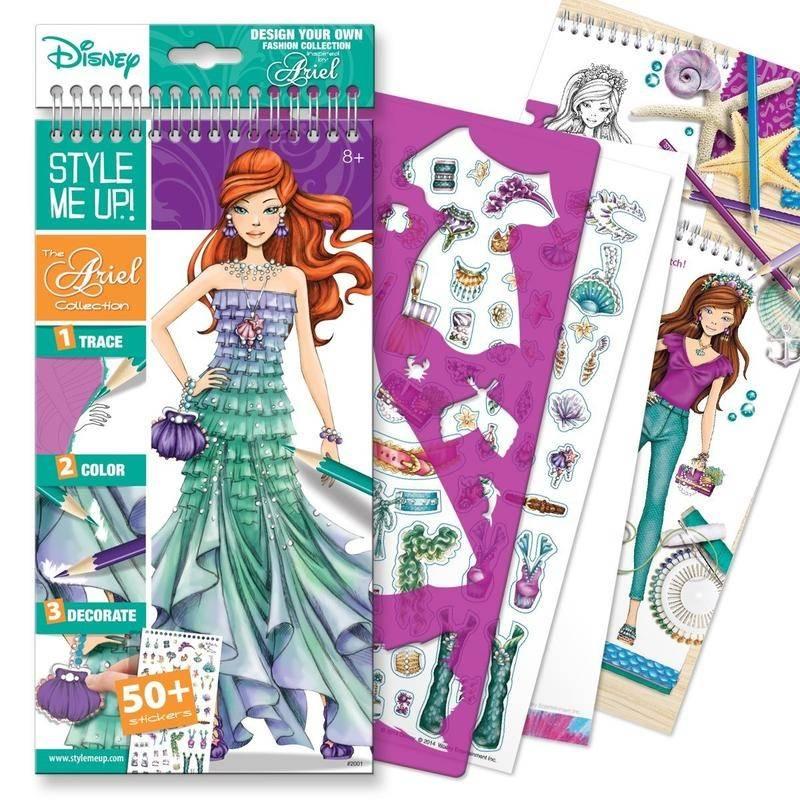 Блокнот с трафаретами Disney Коллекция РусалочкиБлокнот с трафаретами Disney Коллекция Русалочкимарки Style me up! для девочек.<br>Красочный блокнот содержит разнообразные страницы, которые помогут сделать неповторимый образ для принцессыАриэль. С набором ребенок тренирует мелкую моторику, а также развивает фантазию.<br>В комплекте:<br>- 40 страниц с эскизами;- 16 листов с идеями;- 4 листа с трафаретами;- более 50 стикеров;- инструкции.<br> <br>Размер:29х1,7х14,6 см.<br>Рекомендовано для детей от 8 лет.<br><br>Возраст от: 8 лет<br>Пол: Для девочки<br>Артикул: 658838<br>Страна производитель: Китай<br>Бренд: Канада<br>Лицензия: Disney<br>Размер: от 8 лет