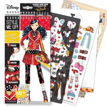 Блокнот с трафаретами Disney Коллекция Минни Маус