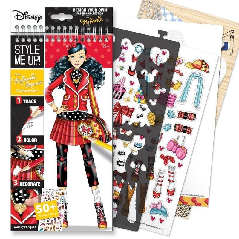 Style me up! Блокнот с трафаретами Disney Коллекция Минни Маус наборы для творчества wooky style me up блокнот с трафаретами рок звезда