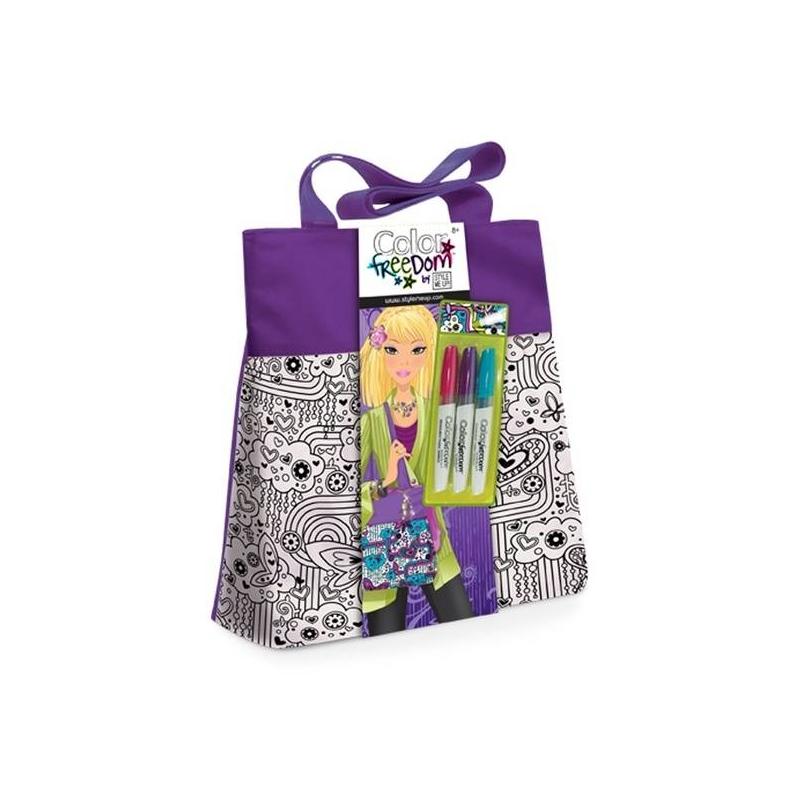 Набор для творчества Лиловая сумочкаНабор для творчества Лиловаясумочка марки Style me up!<br>Набор для юных рукодельниц позволит украсить стильную сумку. Для этого умелым ручкам необходимо раскрасить сумку специальными маркерами, которые входят набор. Немного стараний илетняя яркая сумочка будет готова.<br>Комплектация:<br>-сумочка; - 3 маркера поткани.<br>Размер: 33х2,54х30,5см.<br>Рекомендовано для детей от 8 лет.<br><br>Возраст от: 8 лет<br>Пол: Для девочки<br>Артикул: 658854<br>Страна производитель: Китай<br>Бренд: Канада<br>Размер: от 8 лет