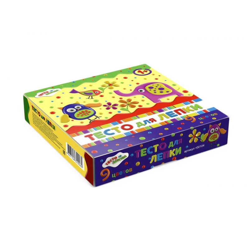 набор для детского творчества тесто для лепки тесто из детства 3цв 135гр т00105 Тесто из Детства Тесто для лепки 9 цветов