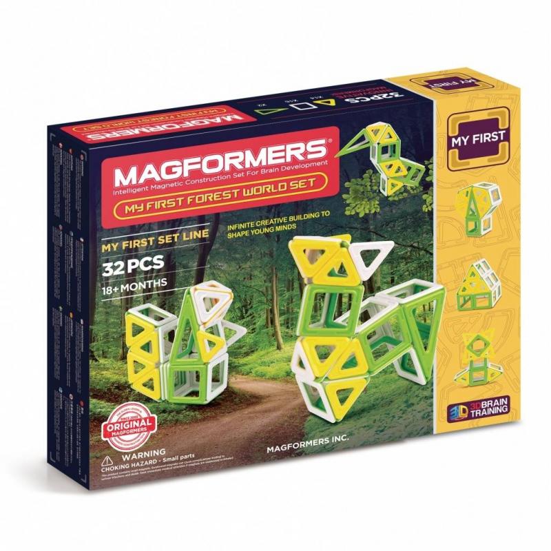 MAGFORMERS Магнитный конструктор My First Forest 32 set магнитный конструктор magformers space treveller set 35 элементов 703007