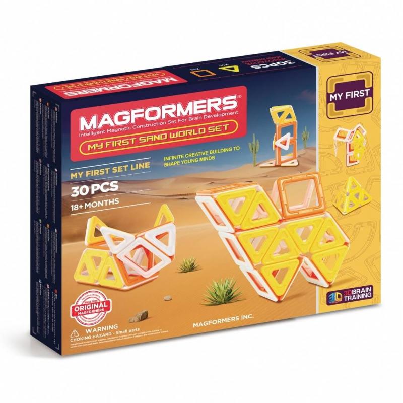MAGFORMERS Магнитный конструктор My First Sand World set магнитный конструктор magformers space treveller set 35 элементов 703007