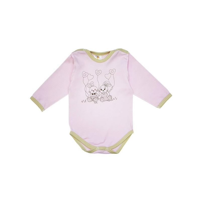 БодиБоди розовогоцвета из коллекции Зайка на розовом марки КотМарКот для девочек.<br>Боди выполнено из натурального хлопка и декорировано изображением милых зайчиков. Модель с длинным рукавомзастегивается на кнопки для удобства переодевания малышки.<br>Бодидля возрастов 2 и 3 месяца сшито швами наружу, чтобы не натирать нежную кожу ребенка.<br><br>Размер: 2 месяца<br>Цвет: Розовый<br>Рост: 56<br>Пол: Для девочки<br>Артикул: 699345<br>Страна производитель: Россия<br>Сезон: Всесезонный<br>Состав: 100% Хлопок<br>Бренд: Россия<br>Вид застежки: Кнопки