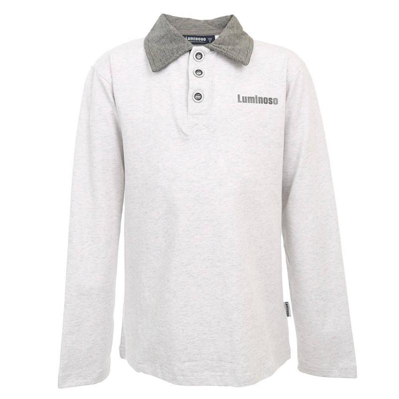 ДжемперДжемпер серого цвета из коллекции School collection марки Luminoso для мальчиков.<br>Классический трикотажный джемпер с длинным рукавом выполнен из хлопка с добавлением эластана. Модель с отложным воротничком темно-серогоцвета декорирована принтом с надписью логотипа бренда, а также дополнена удобными пуговицами.<br><br>Размер: 11 лет<br>Цвет: Серый<br>Рост: 146<br>Пол: Для мальчика<br>Артикул: 686358<br>Страна производитель: Китай<br>Сезон: Всесезонный<br>Состав: 95% Хлопок, 5% Эластан<br>Бренд: Италия