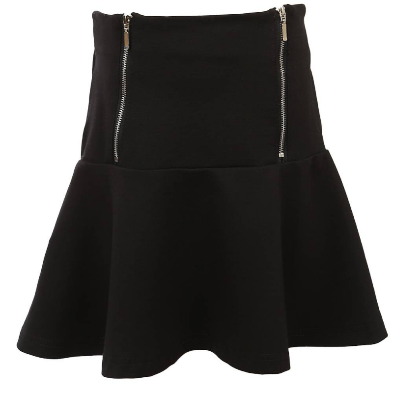 ЮбкаЮбкачерногоцвета из коллекции School collection марки Luminoso.<br>Однотонная юбка свободного трапециевидного кроя, выполненная из приятной на ощупь ткани с добавлением хлопка, дополнена функциональными металлическими молниями и широкойэластичной резинкой на талии.<br><br>Размер: 12 лет<br>Цвет: Черный<br>Рост: 152<br>Пол: Для девочки<br>Артикул: 686198<br>Бренд: Италия<br>Страна производитель: Китай<br>Сезон: Всесезонный<br>Состав: 65% Хлопок, 30% Полиэстер, 5% Эластан<br>Вид застежки: Молния