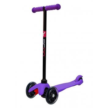 Спорт и отдых, Самокат Mini A5 Shine со светящимися колесами Y-SCOO (фиолетовый)650863, фото