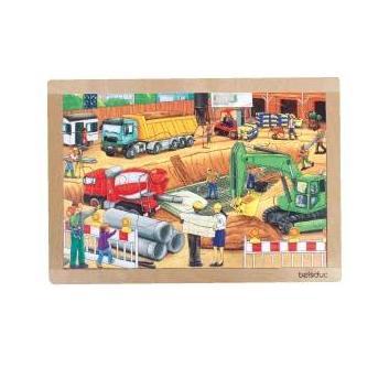 Игрушки, Развивающий пазл Стройка 24 детали Beleduc 657203, фото