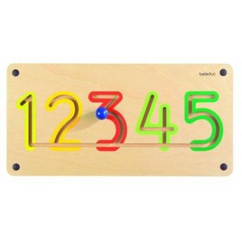 Игрушки, Настенный игровой элемент Цифры от 1 до 5 Beleduc 657216, фото