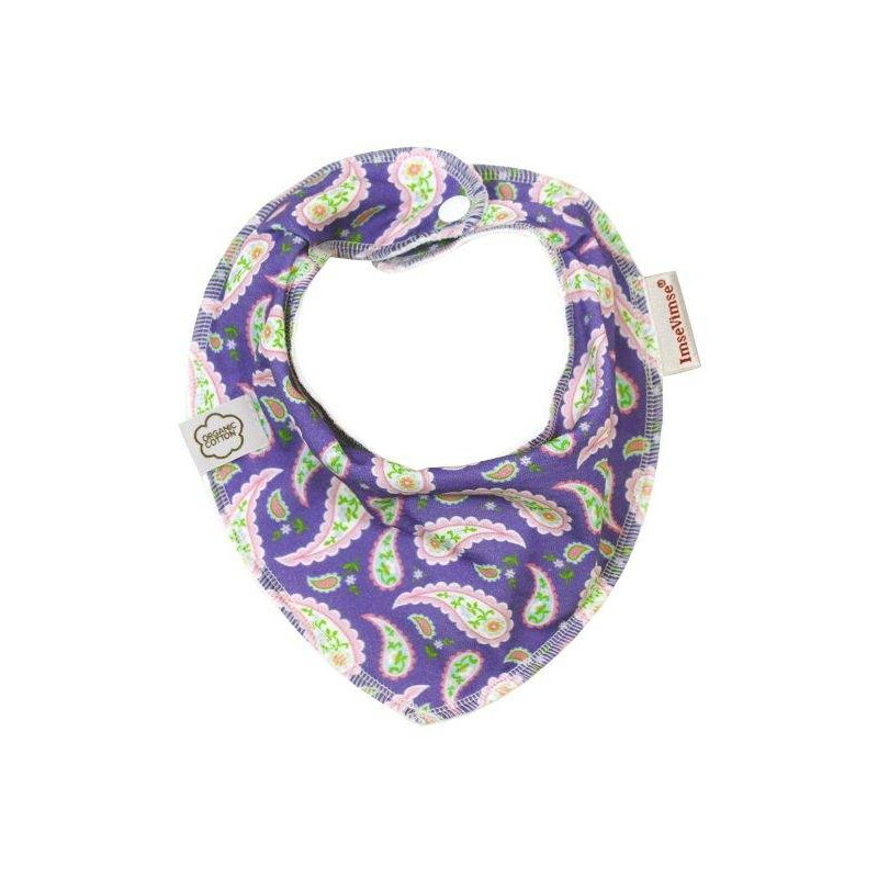 ImseVimse Нагрудник Bandana Purple Paisley