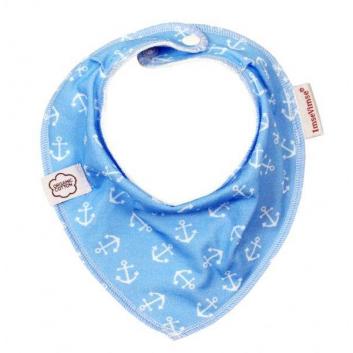 Малыши, Нагрудник Bandana Blue Anchor ImseVimse (голубой)657242, фото