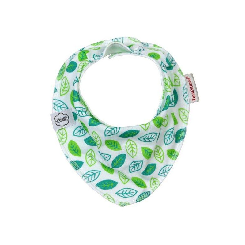 ImseVimse Нагрудник Bandana Green Leaves