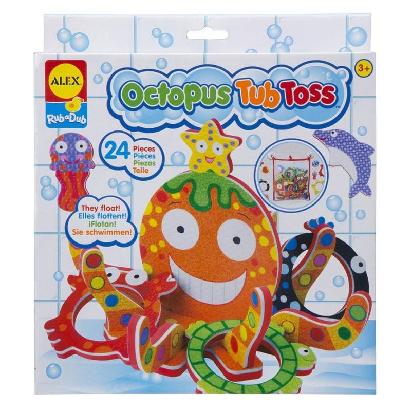 ALEX Игра для ванны Кольцеброс Осьминожка alex игрушки для ванны 3 цветные лодочки