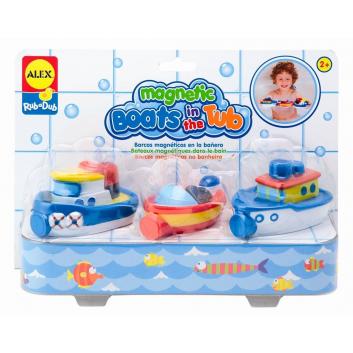 Игрушки, Игрушки для ванны Магнитные лодочки ALEX 698052, фото