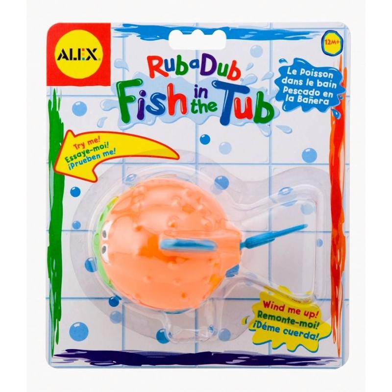 ALEX Игрушка для ванны Рыба-ёж игрушка заводная коралловая рыбка цвет фиолетовый