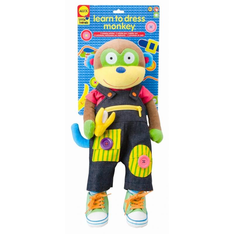 ALEX Игрушка Учимся одеваться с обезьянкой