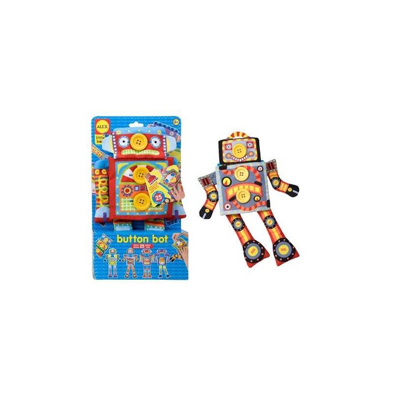 ALEX Развивающая игрушка Робот Пуговка alex alex посуда игрушечная chasing butterflies ceramic tea set поймай бабочку 13 предметов