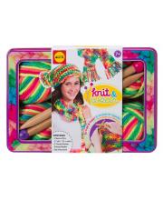 Набор для вязания Разноцветные шарф и шапочка