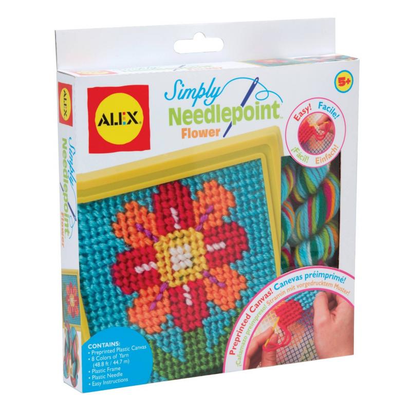 ALEX Набор для вышивания Цветок канва с рисунком для вышивания бисером hobby