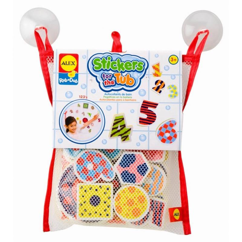 ALEX Набор фигурок стикеров для ванны Цифры игрушки для ванной alex игрушки для ванны джунгли