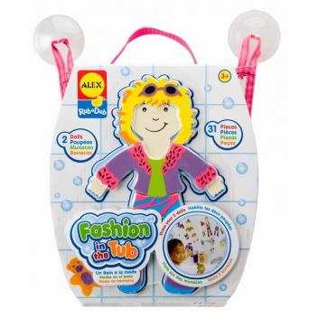 Набор фигурок стикеров для ванны Одень куклу