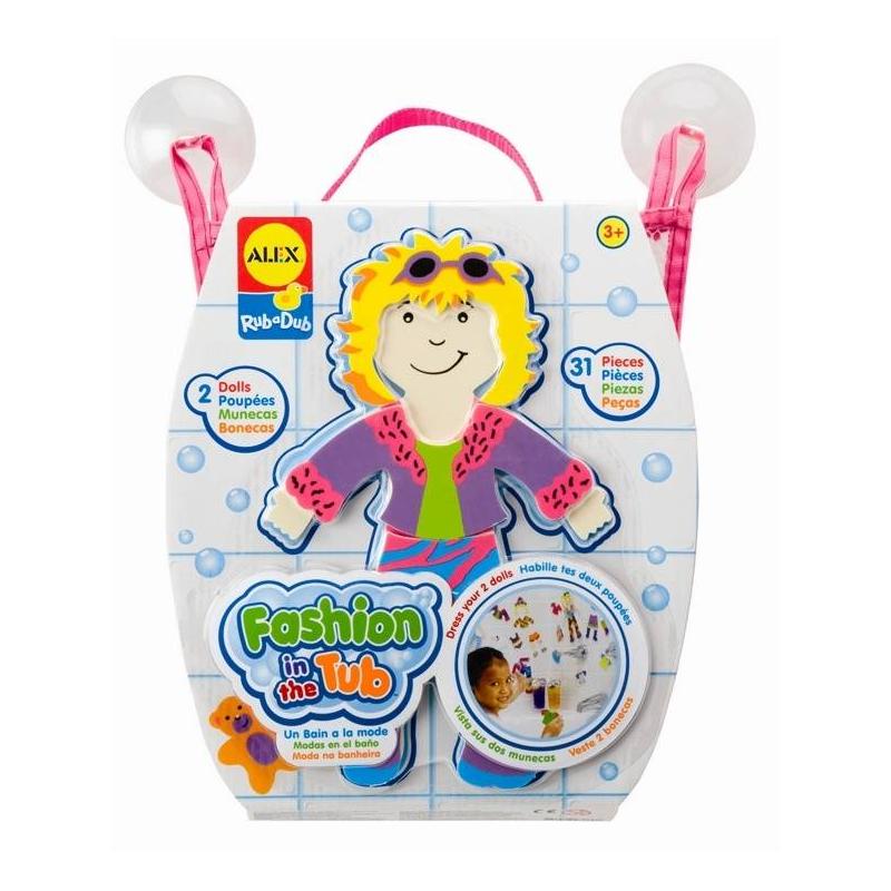 ALEX Набор фигурок стикеров для ванны Одень куклу alex игрушки для ванны 3 цветные лодочки