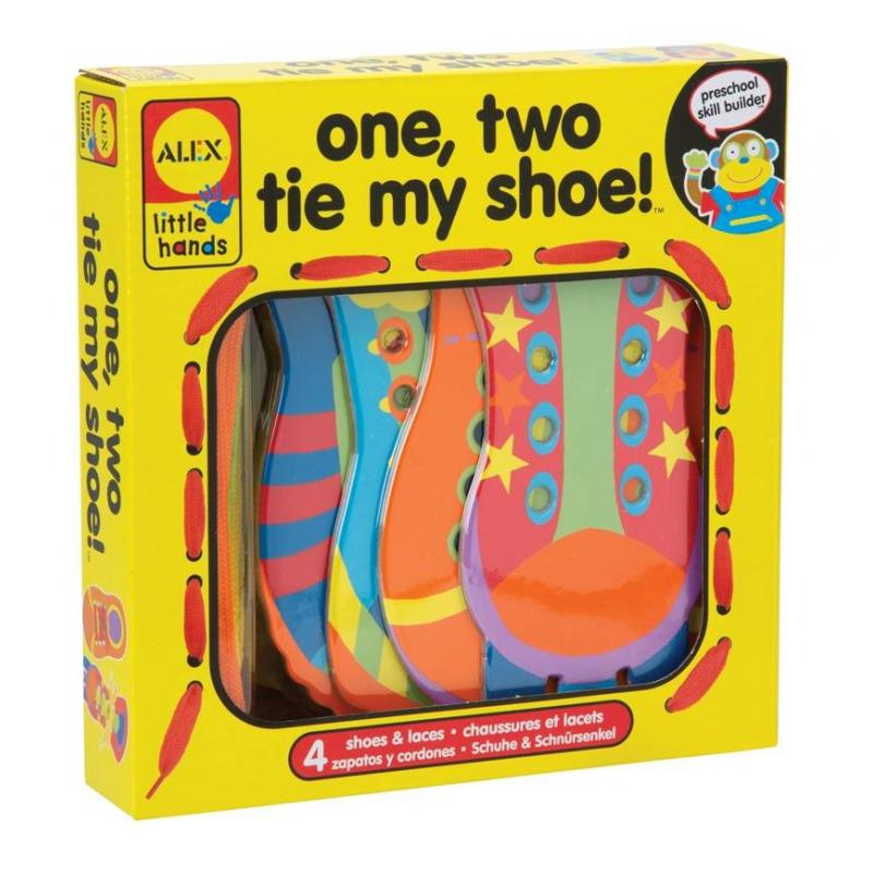 ALEX Игрушка шнуровка Раз, Два, зашнуруй меня игровой набор alex alex шнуровка веселая ферма