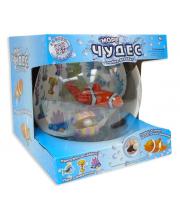 Игрушка для ванны рыбка-акробат с аквариумом
