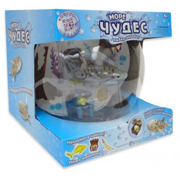 Игрушка для ванны акула - акробат с аквариумом