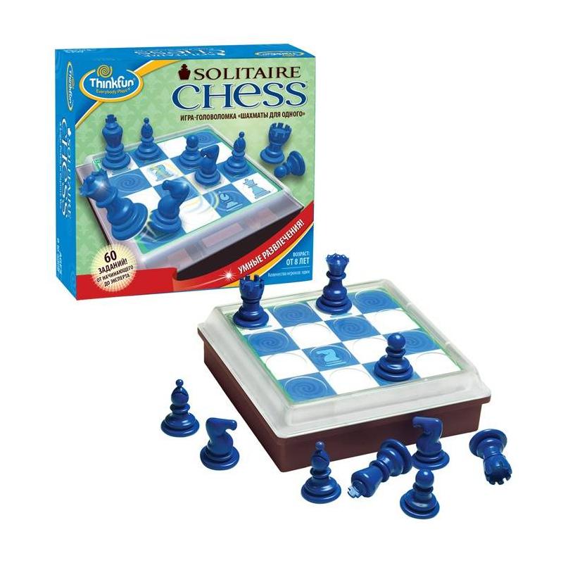THINKFUN Игра-головоломка Шахматы для одного шахматы 60 необычных игр на классической доске