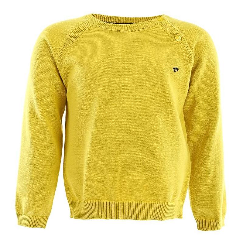 СвитерЖелтый свитер для мальчика марки MAYORAL. Свитер с рукавами реглан из стопроцентного хлопка, для удобства одевания застегивается на две пуговицы на плече. Свитер украшен маленьким синим логотипом.<br><br>Размер: 2 года<br>Цвет: Желтый<br>Рост: 92<br>Пол: Для мальчика<br>Артикул: 601363<br>Страна производитель: Бангладеш<br>Сезон: Осень/Зима<br>Состав: 100% Хлопок<br>Бренд: Испания<br>Вид застежки: Пуговицы