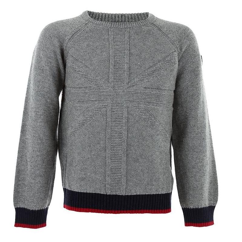 СвитерСерый свитер с добавлением шерстимарки MAYORAL для мальчиков. Мягкий теплый свитер с рукавами реглан, манжеты и низ красно-синего цвета связаны резиночкой.<br><br>Размер: 9 лет<br>Цвет: Серый<br>Рост: 134<br>Пол: Для мальчика<br>Артикул: 601710<br>Страна производитель: Китай<br>Сезон: Осень/Зима<br>Состав: 60% Хлопок, 30% Полиамид, 10% Шерсть<br>Бренд: Испания