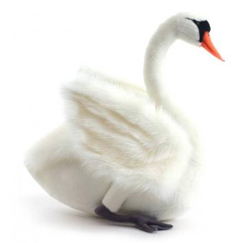 Игрушки, Мягкая игрушка Лебедь белый Hansa 698393, фото