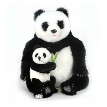 Игрушки, Мягкая игрушка Панда с детенышем Hansa 698378, фото