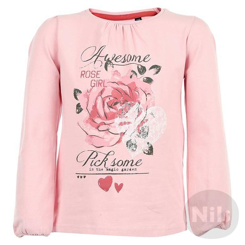 ФутболкаРозовая футболка с длинным рукавом марки BLUE SEVEN для девочек. Мягкая футболка из хлопкового трикотажа с небольшим добавлением эластана украшена принтом с розами, а также сборками на плечах и уворота. На рукавах тонкие эластичные манжеты.<br><br>Размер: 5 лет<br>Цвет: Розовый<br>Рост: 110<br>Пол: Для девочки<br>Артикул: 604302<br>Страна производитель: Бангладеш<br>Сезон: Всесезонный<br>Состав: 95% Хлопок, 5% Эластан<br>Бренд: Германия<br>Рукава: Длинные, манжеты