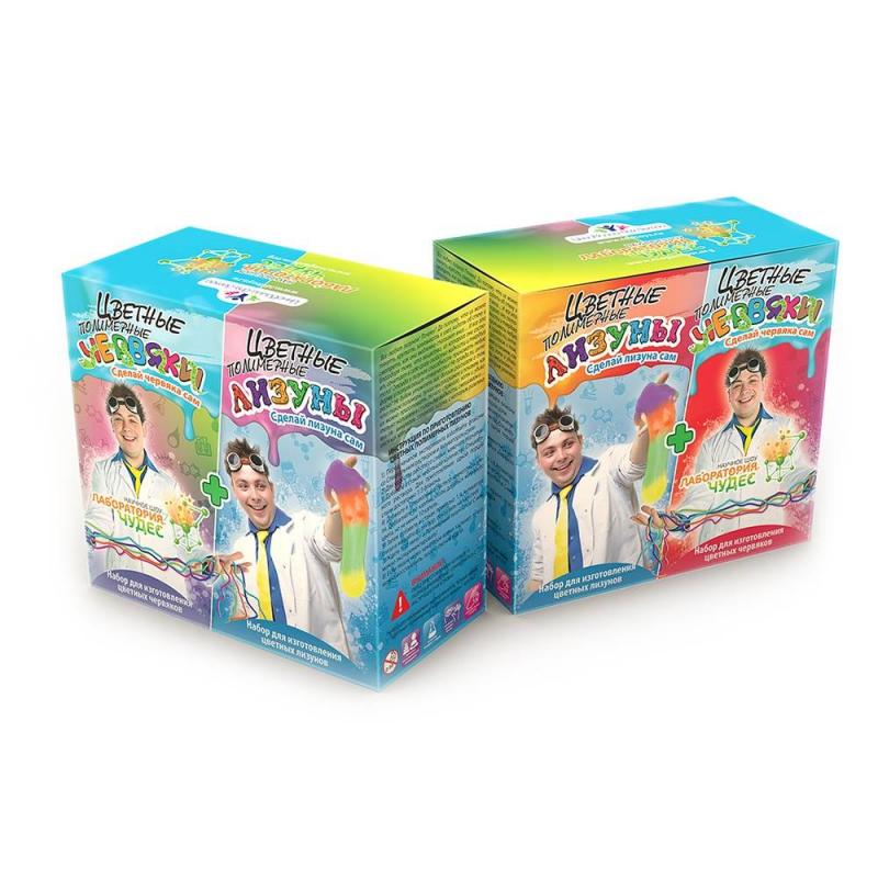 Купить Набор Цветные червяки и лизуны, Инновации для детей, от 7 лет, Не указан, 659062, Россия