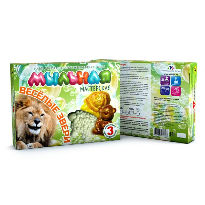 Инновации для детей Набор Мыльная мастерская Веселые звери инновации для детей набор мыльная мастерская джунгли