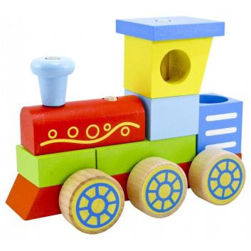 Игрушки, Конструктор-каталка Паровоз Alatoys 659254, фото