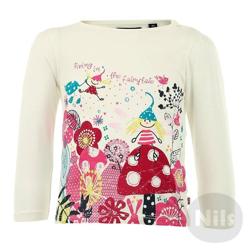 ФутболкаБелая футболка с длинным рукавом марки BLUE SEVEN для девочек. Футболка из стопроцентного хлопкового трикотажа цвета слоновой кости украшена милым розовым принтом и застегивается на две кнопки на плече.<br><br>Размер: 3 месяца<br>Цвет: Белый<br>Рост: 62<br>Пол: Для девочки<br>Артикул: 602642<br>Бренд: Германия<br>Страна производитель: Бангладеш<br>Сезон: Всесезонный<br>Состав: 100% Хлопок<br>Вид застежки: Кнопки<br>Рукава: Длинные, без манжет