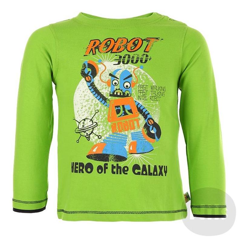 ФутболкаЗеленаяфутболка с длинным рукавом марки BLUE SEVEN для мальчиков. Футболка из стопроцентного хлопкового трикотажа украшена веселым принтом с роботоми застегивается на две кнопки на плече.<br><br>Размер: 18 месяцев<br>Цвет: Зеленый<br>Рост: 86<br>Пол: Для мальчика<br>Артикул: 602701<br>Страна производитель: Бангладеш<br>Сезон: Всесезонный<br>Состав: 100% Хлопок<br>Бренд: Германия<br>Вид застежки: Кнопки<br>Рукава: Длинные, без манжет