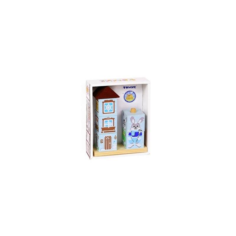 Купить Кубики на палочке Зайка, ТОМИК, от 3 лет, Дерево, Не указан, 659172, Россия